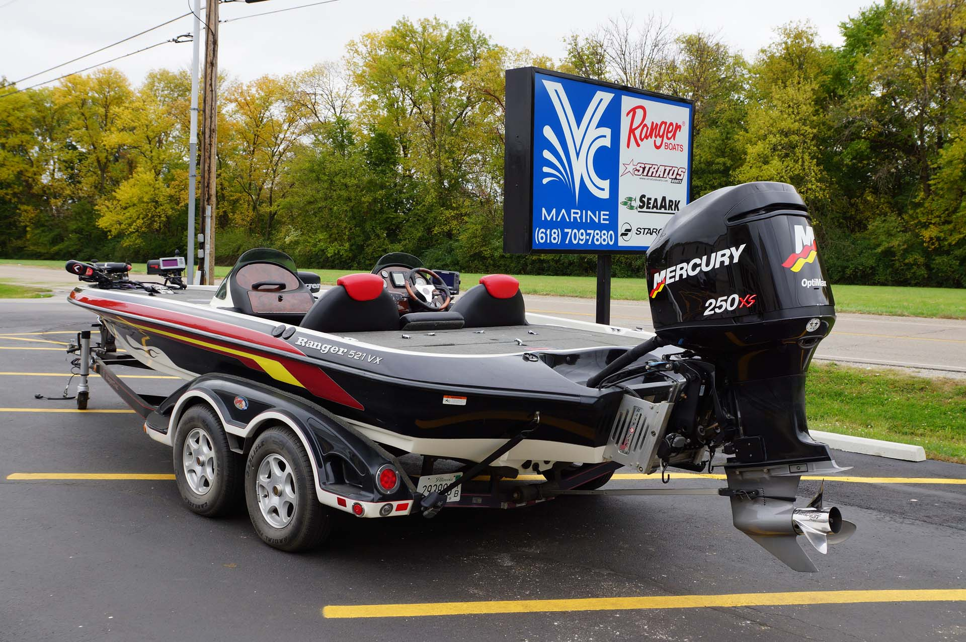 2004 Ranger 521 Vx W Mercury 250 Optimax Pro Xs Amp Trailer